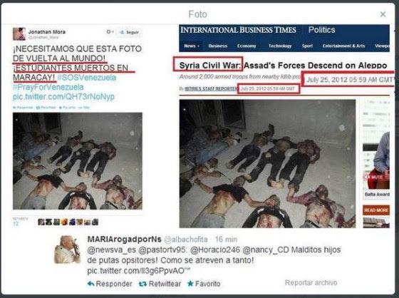 Mortos na Síria são vitimas na cidade de Maracay na Venezuela?
