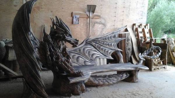 Image result for dragon bench
