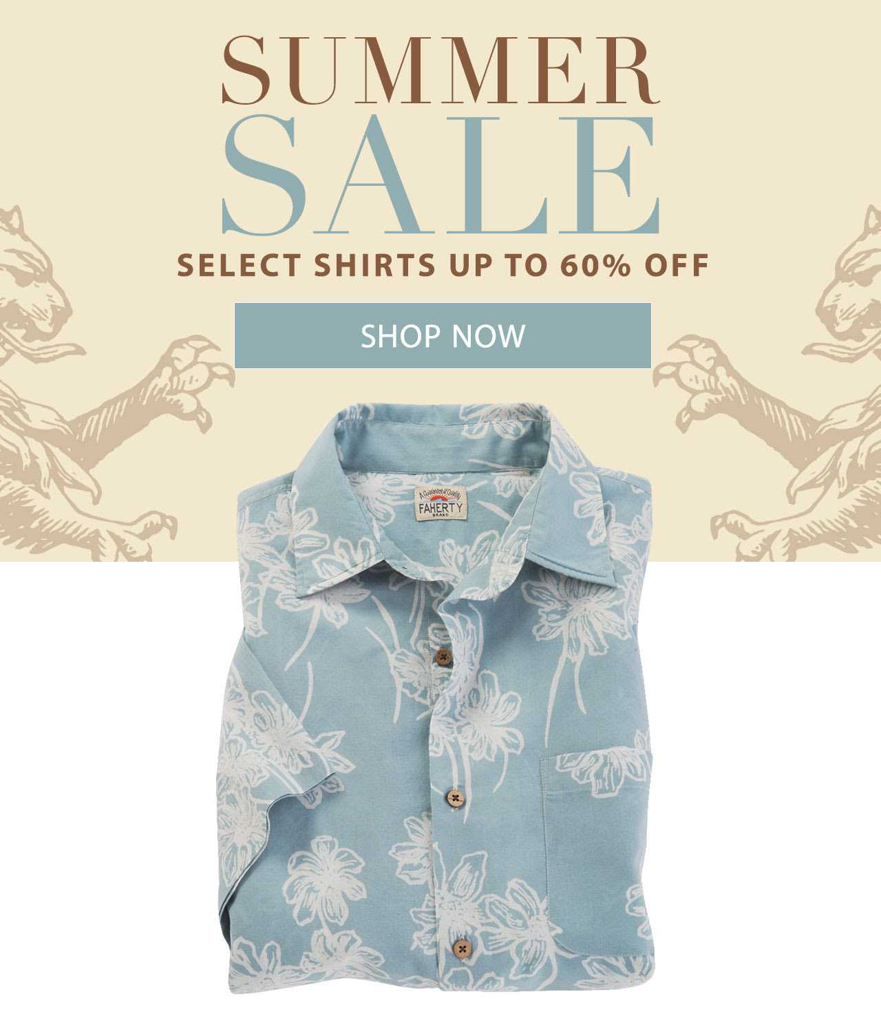 Get select shirts for up to 60% off now at our Summer Sale