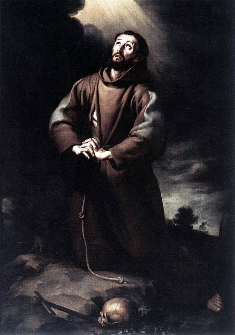 Święty Franciszek z Asyżu na modlitwie (obraz Bartolomé Estebana Murilla) – Wikipedia, wolna encyklopedia