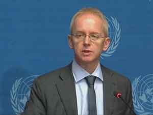 El portavoz del Alto Comisionado de Naciones Unidas para los Refugiados (Acnur) Adrian Edwards