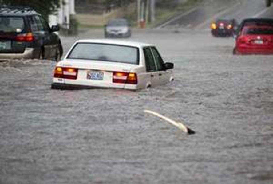 Roadway flooding following an intense thunderstorm, Burlington, VT. Burlington Free Press