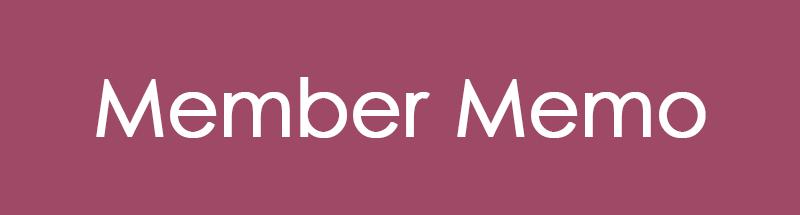 Member Memo