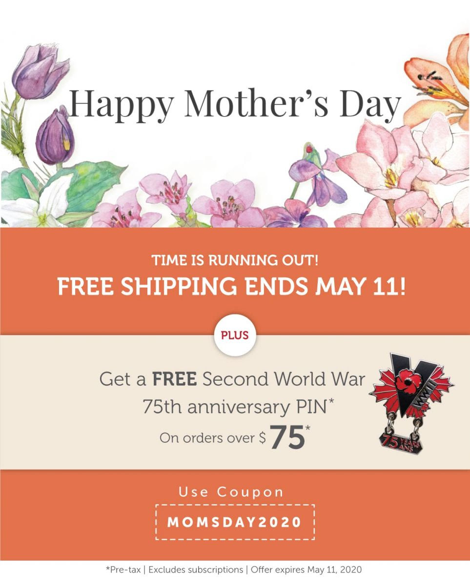 Mother's Day Promotion | Free Shipping + Free Pin