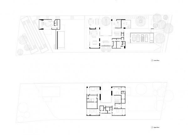 μοντέρνο σπίτι-κάτοψη