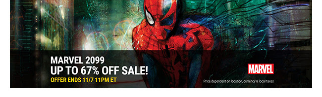 Marvel 2099 Sale: up to 67% off! | Ends 11/7