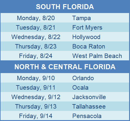 All FL events aug-sep