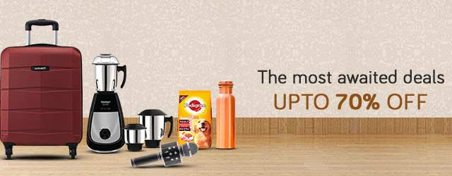 The most awaited deals Upto 70% Off