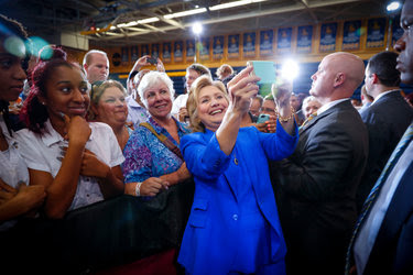 Hillary Clinton at a rally at Johnson C. Smith University in Charlotte, N.C., on Thursday.