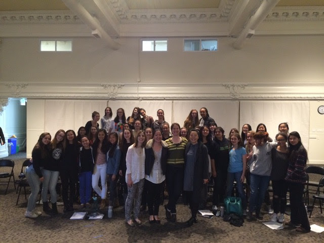 The San Francisco Girls Chorus with Laurie Rubin, her partner Jenny, Minna Choi, and Lisa Bielawa.