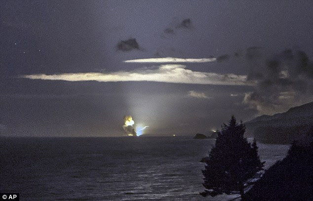 Detonation: The moment the weapon exploded is captured by Scott Wight and shows the horizon from Cape Greville in Chiniak, Alaska