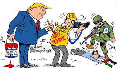 Trump human rights NGOs anti-Semitic Israel Palestine Latuff Mondoweiss