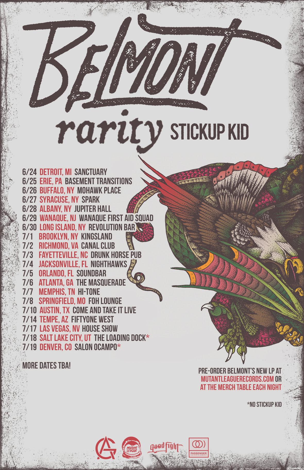 Belmont Tour Dates