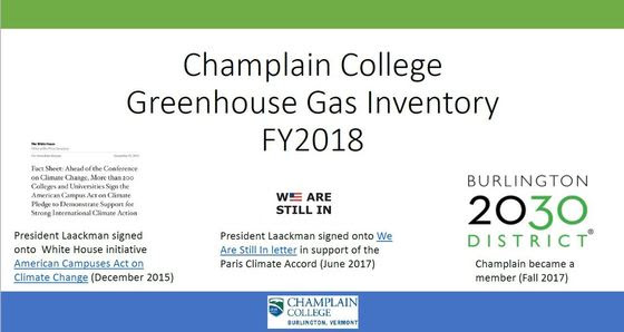 Complete FY2018 Greenhouse Gas Inventory