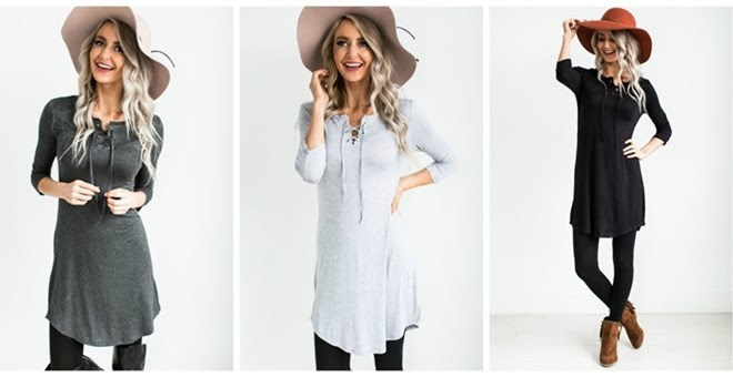 *HOT* Everyday Lace Up Tunic..