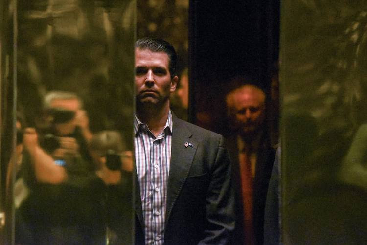 Donald Trump Jr. arrives at Trump Tower in New York City. (Stephanie Keith/Reuters)