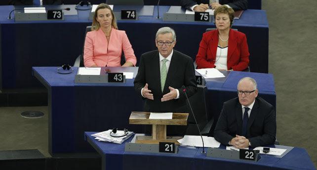 Jean Claude Juncker, durante una intervención en el Parlamento Europeo.
