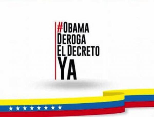 Campaña venezolana #ObamaDerogaElDecretoYA