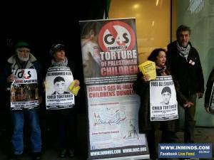 Protesta en Londres ante la sede de G4S en solidaridad con los presos palestinos