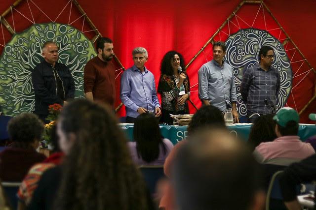 La carta fue presentada en un acto público este sábado (08) que contó con la presencia de políticos progresistas brasileños - Créditos: Foto: Pedro Stropasolas