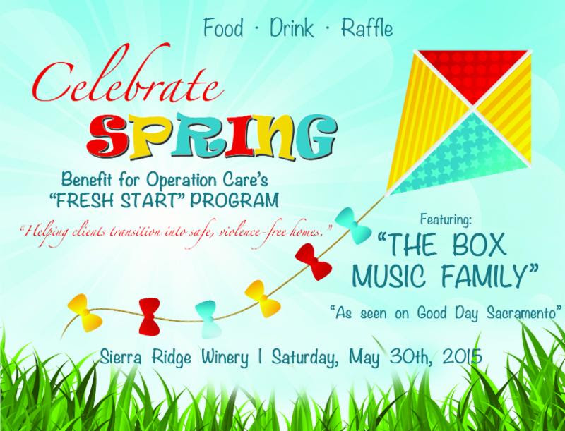 Celebrate SPRING Saturday May 30th, 2015