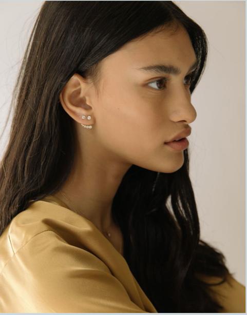 Ethical Diamond Huggie Earring, $368 @idyl.com