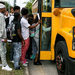 Students boarded a bus after school in Houston in September.
