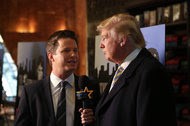 """Billy Bush, then with """"Access Hollywood,"""" interviewing Donald J. Trump in 2015."""