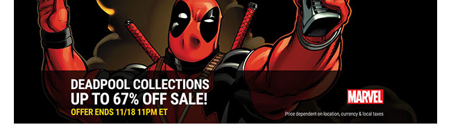 Marvel Deadpool Sale: up to 67% off! | Ends 11/18