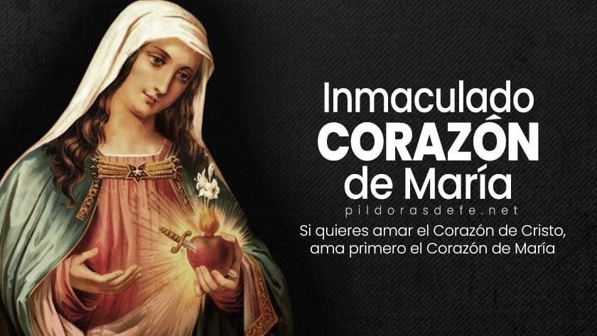 fiesta del inmaculado corazon de la virgen maria