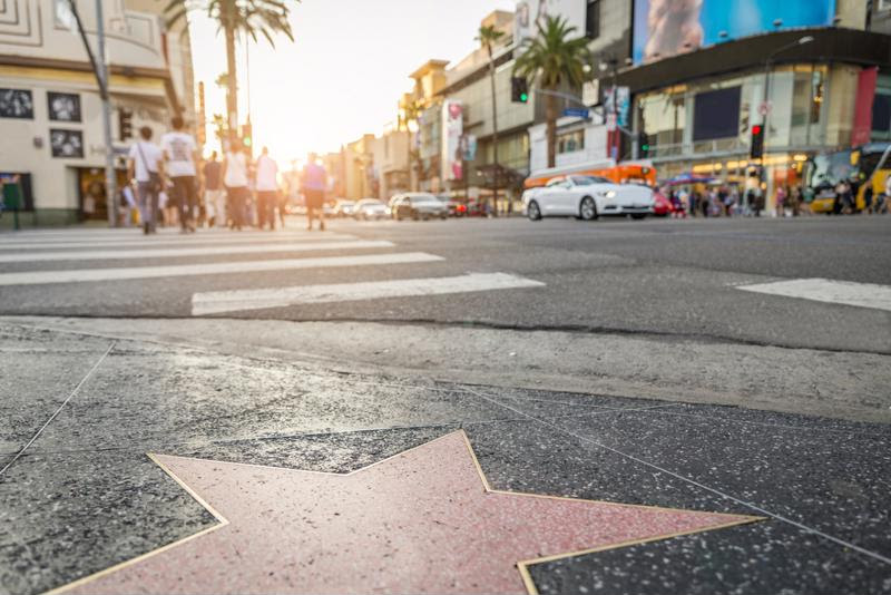 Check out the Hollywood Walk of Fame.