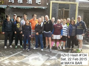 1 HZH3 Hash 134 had 19 starters at Maya Bar --- 18 would be there at the end - timmod