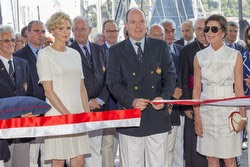 HRH Prince Albert of Monaco at YC Monaco opening- famous J/24 sailor!