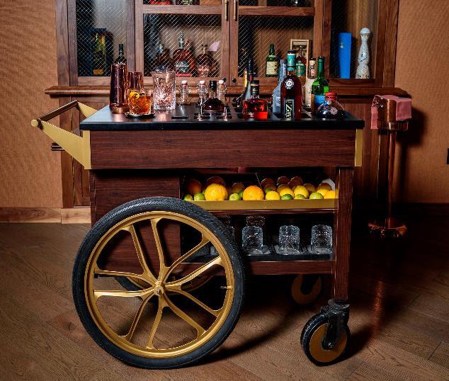 Old Fashioned Beverage Cart