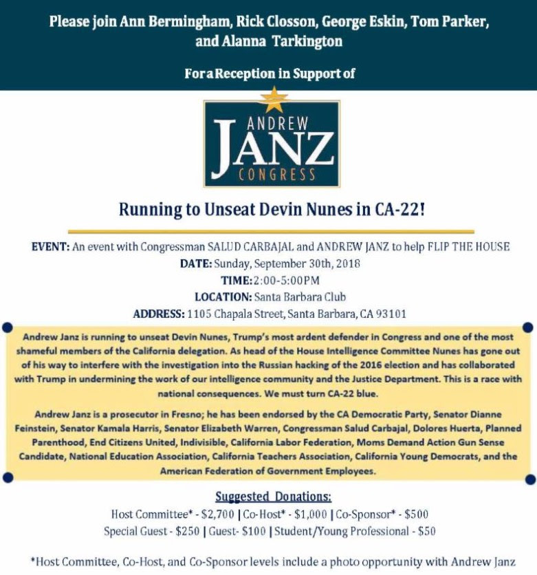 Help Unseat Devin Nunes in CA-22