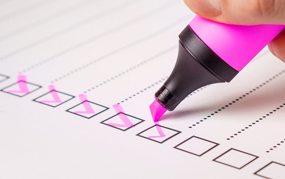 Lista De Comprobación, De Verificación, Lista, Marcador