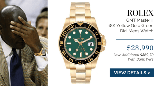 GMT Master II 18K Yellow Gold Green Dial