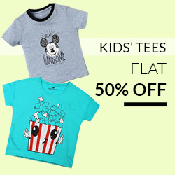KIDS TEES FLAT 50% OFF