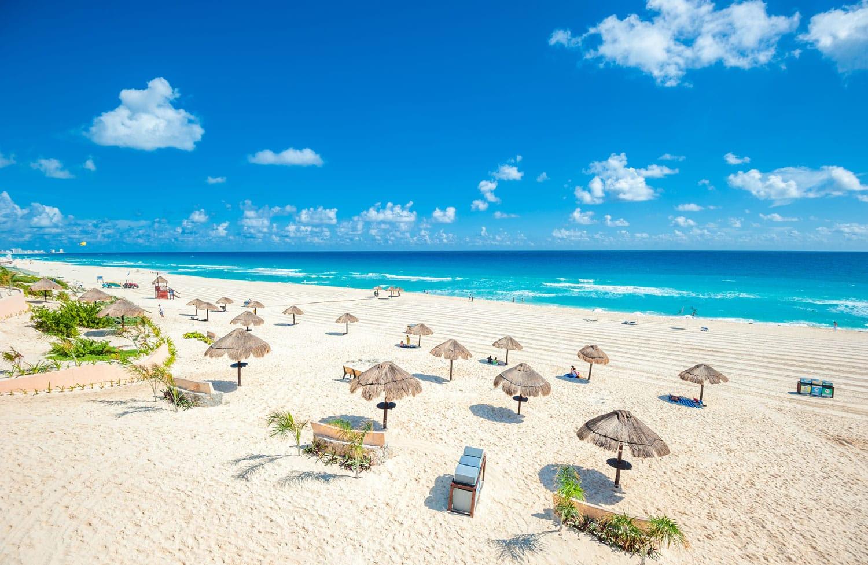 Cancun, Meksika güzel plaj