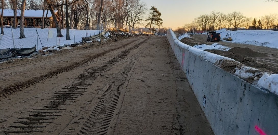Retaining Walls Adjacent to Eden Prairie Town Center Station in Eden Prairie