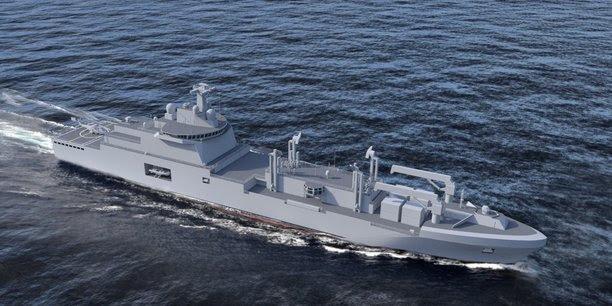 News sur la navale mondiale (les chantiers de constructions navales-dont chantiers STX stNaz) - Page 9 Frotlog-petrolier-ravitailleur-chantiers-de-l-atlantique-naval-group-fincantieri