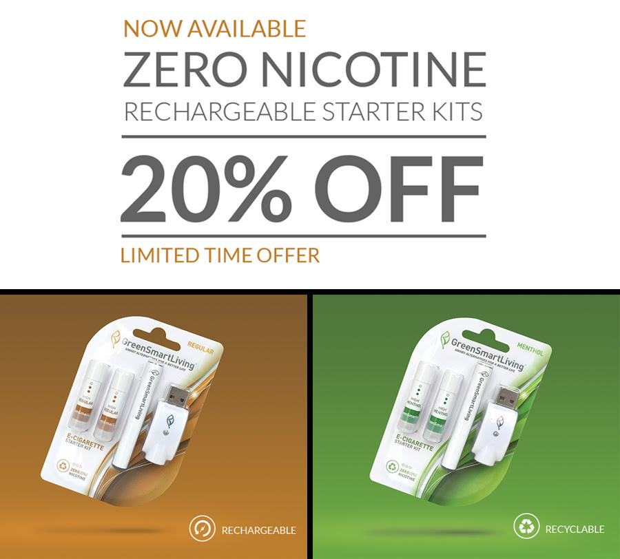 20% OFF on GreenSmartLiving Regular ZERO-Starter Kit - Was $10.99 NOW $8.80!
