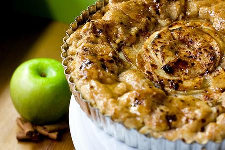 Tarta vegana de manzana  s