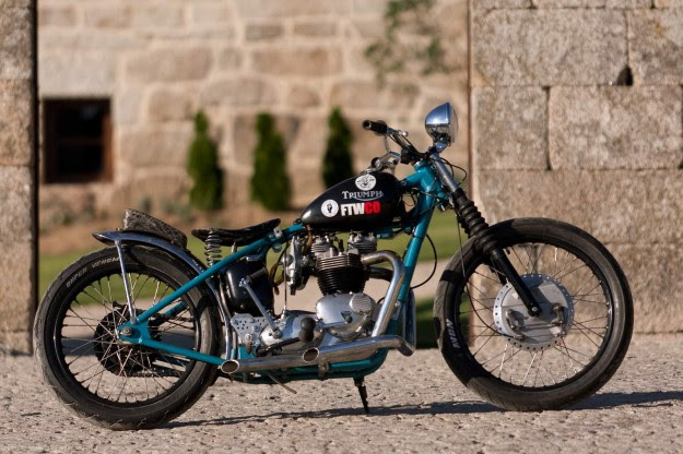 David Borras' Triumph hardtail motorcycle