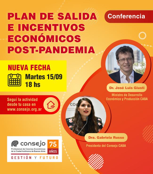 Conferencia Plan de salida e incentivos económicos post-pandemia