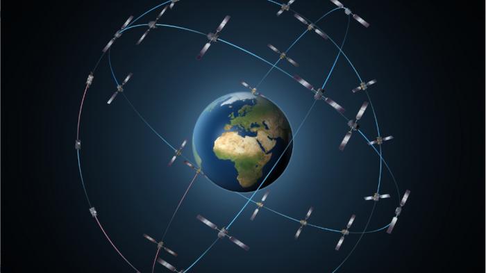 La constellation de satellites GPS Galileo autour de la Terre