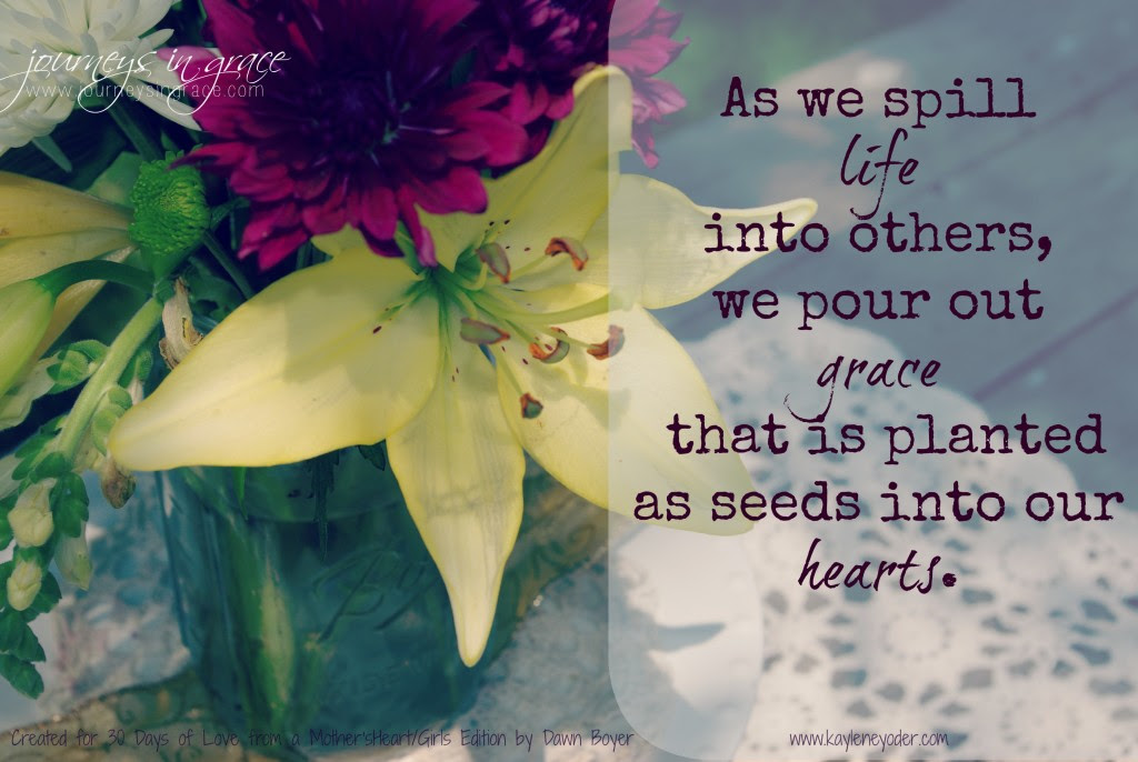 grace seeds for 30 days of love