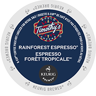 Timothys Rainforest Espresso Keurig Kcup coffee