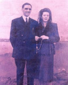 El único recuerdo que Anita guarda del día de su boda con Alfonso Braña.
