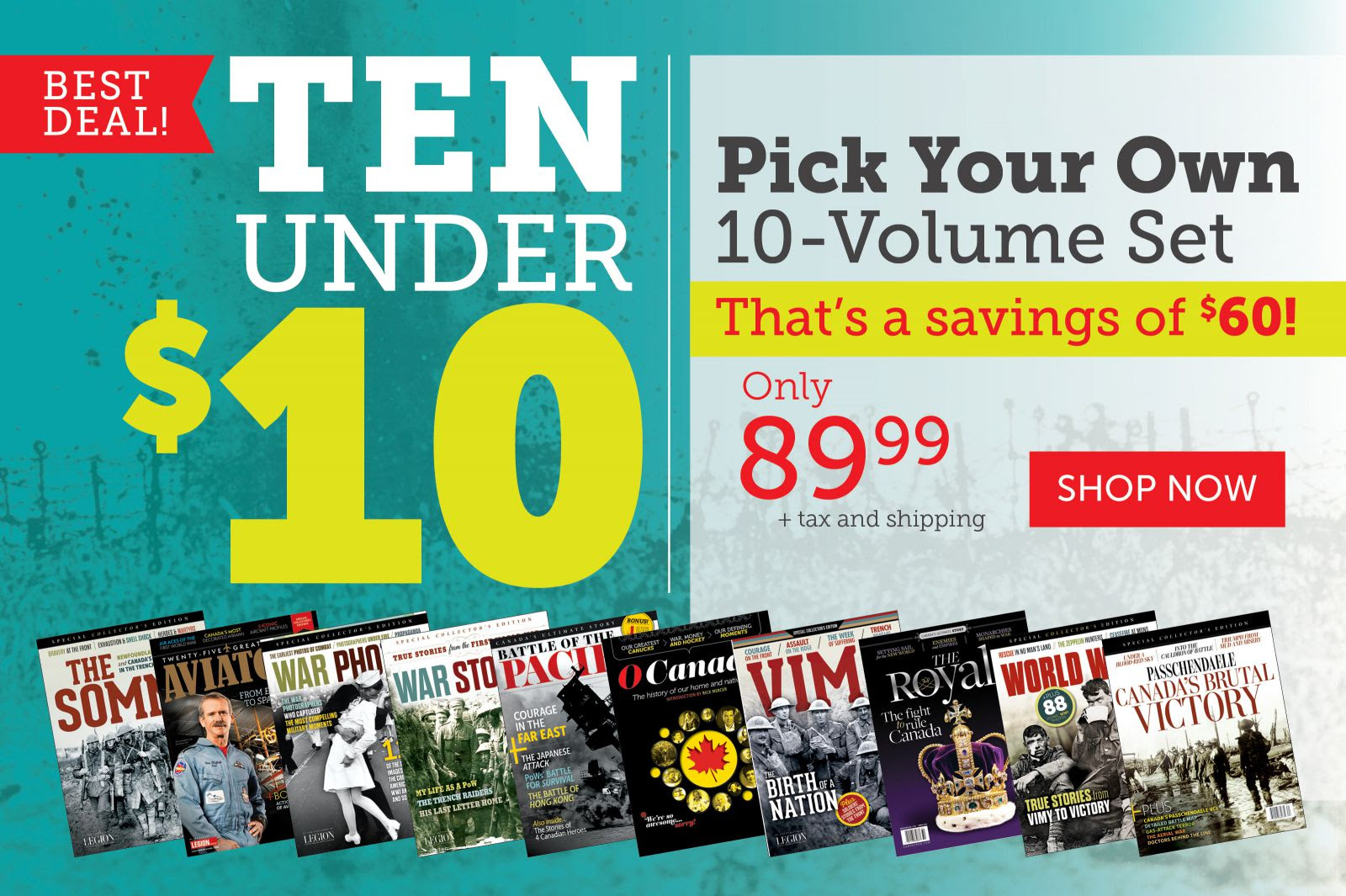 Best Deal! Ten Under $10!